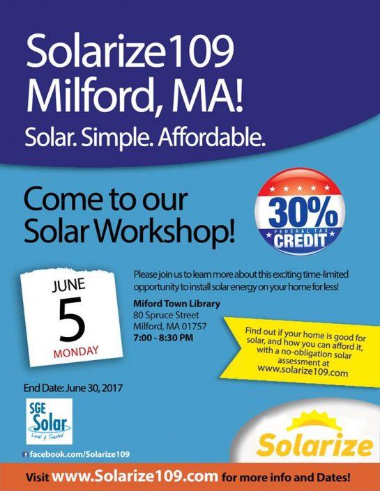 Solar For Homeowners Sge Solar Milford Ma